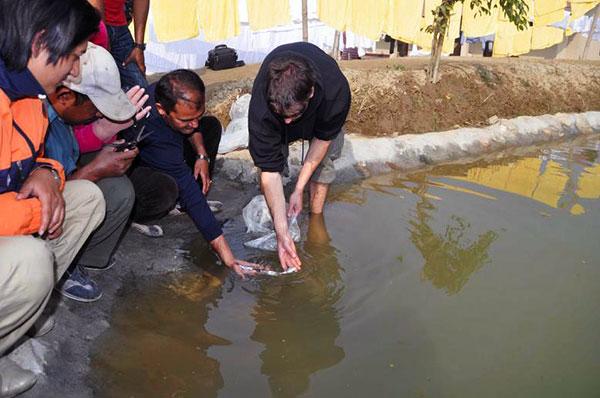 CWON aquaculture project - volunteer team