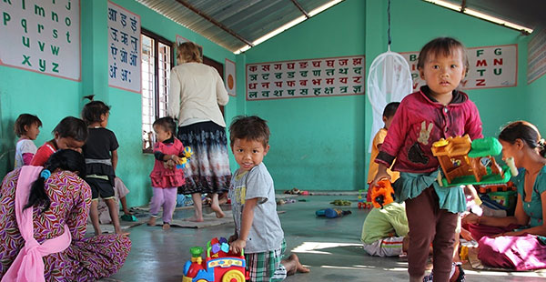 CWON Australia childcare project - young kids playing