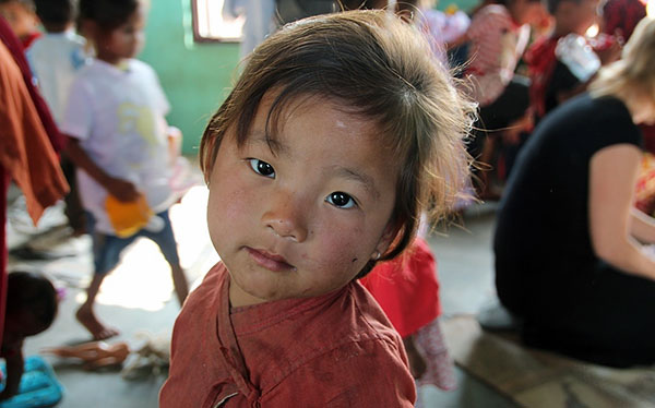 CWON Australia childcare project - Young Nepalese kid
